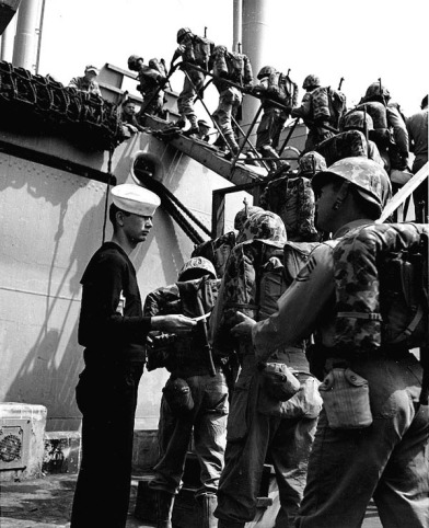 Boarding Troop Ship